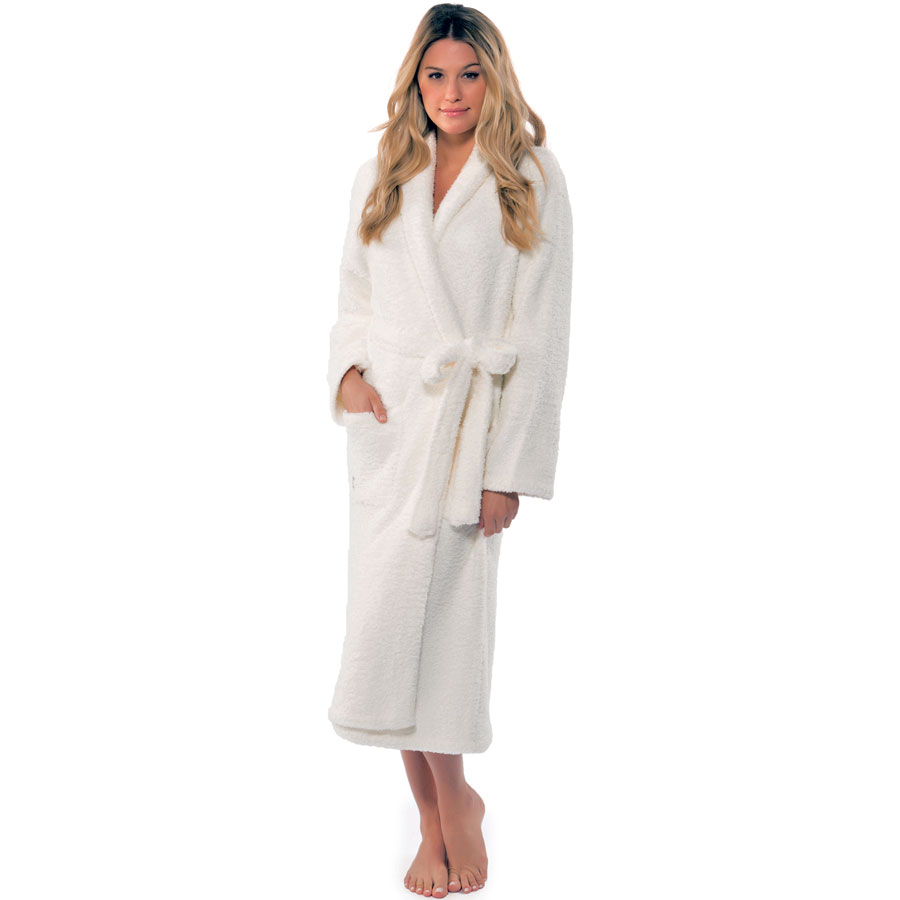 Barefoot Dreams CozyChic Adult Robe Pearl