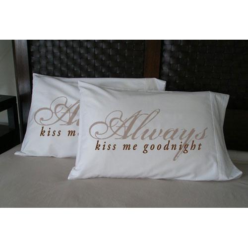 Faceplant Pillowcases Gorgeous Faceplant Always Kiss Me Goodnight Pillowcase Maggies