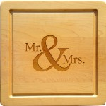 Mr. & Mrs. Maple Leaf Cutting Board