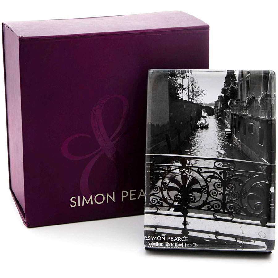 Simon Pearce Woodbury Vertical Photo Block in Gift Box